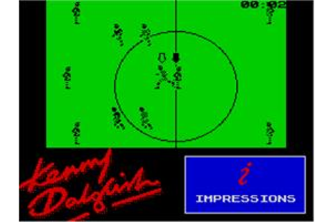 Kenny Dalglish Soccer Match - Sinclair ZX Spectrum - Games ...