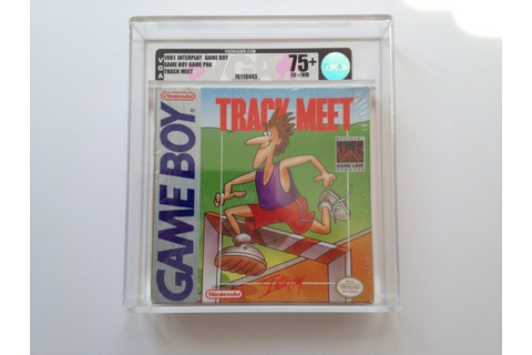 TRACK MEET Nintendo Game Boy New & Factory Sealed. Graded By VGA 75 ...