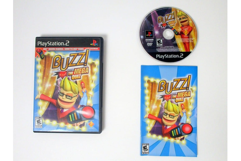 Buzz The Mega Quiz game for Playstation 2 (Complete) | The ...