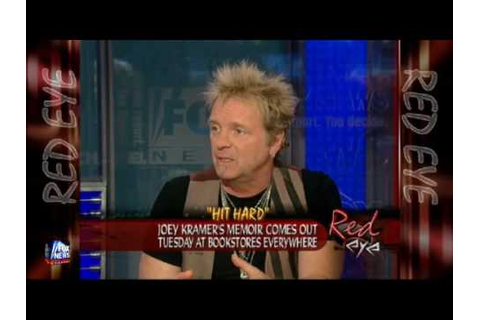 Joey Kramer about his book Hit Hard - YouTube