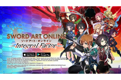 ≪iOS/Android≫ SWORD ART ONLINE: Integral Factor Official ...