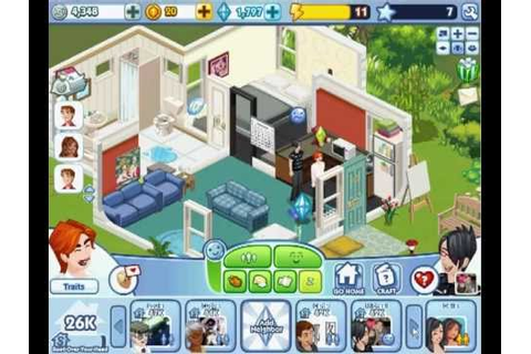 The Sims Social facebook - Gameplay 2/2 WOOHOO - YouTube