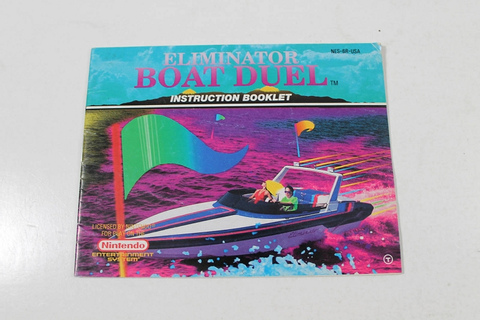 Manual - Eliminator Boat Duel - Rare Nes Nintendo