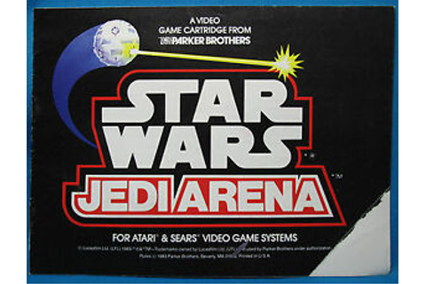 Star Wars Jedi Arena Game Instructions ATARI Sears Rules ...