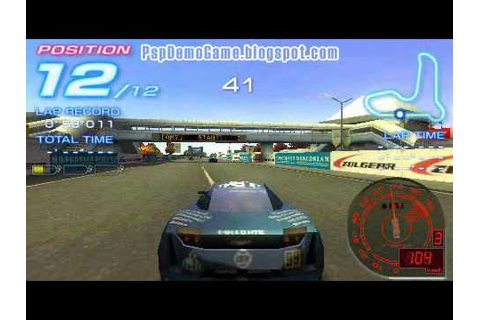 Ridge Racer 2 psp demo game play - YouTube