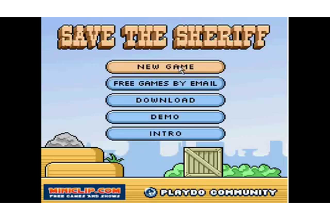 Save The Sheriff [Miniclip] - YouTube