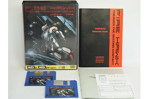 MSX FIRE HAWK Thexder The Second Contact Ref/2289 Msx2/2 ...