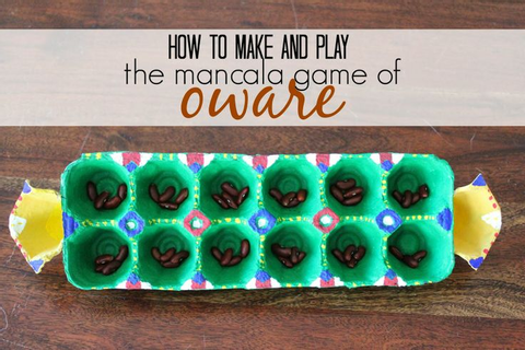 East African Game: How to Make and Play the Mancala Game ...