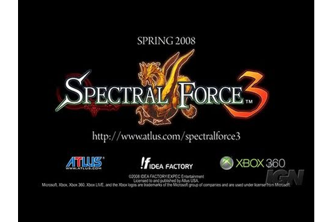 Spectral Force 3 Xbox 360 Trailer - Trailer - YouTube