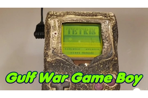 Gulf War Game Boy as Featured in Nintendo Power - YouTube