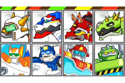 Dino Robot Dino Corps + Transformers Rescue Bots | FULL ...