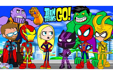 Teen Titans Go! Color Swap Raven Avengers End Game ...