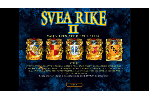 Let's Play Svea Rike II - 1 (This game is history) - YouTube