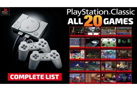 Sony PS1 / PS Classic Mini Complete Games List [All the ...