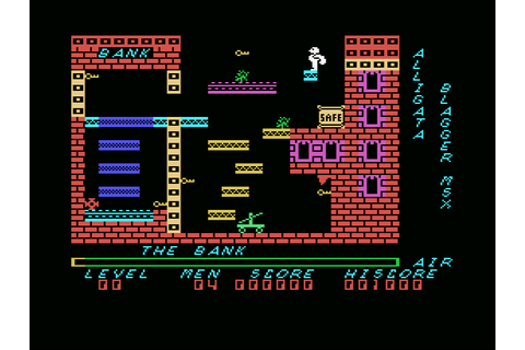 Blagger (1984, MSX, Alligata) | Generation MSX