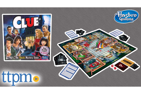 Clue - The Classic Mystery Board Game from Hasbro - YouTube