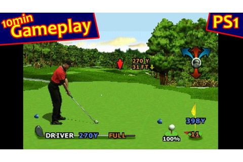 Tiger Woods PGA Tour 2000 ... (PS1) - YouTube