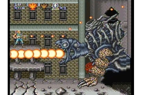 Contra 3 The Alien Wars SNES Walkthrough Super Probotector ...