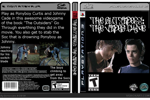 The Outsiders: The Video Game PlayStation 3 Box Art Cover ...