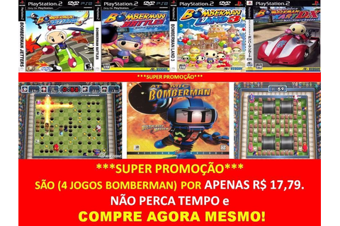 Bomberman Land 3 Playstation 2 (kit 4 Jogos Ps2 Bomber Man ...