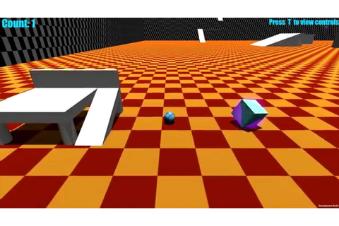 Unity Roll-A-Ball Game Alpha Build v0.02 - YouTube