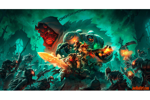joemadart.com: Battle Chasers Nightwar key art 2 wallpaper ...