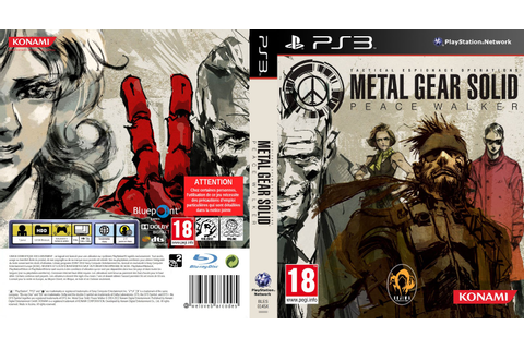 Capa Metal Gear Solid Peace Walker PS3 - Gamecover | Capas ...
