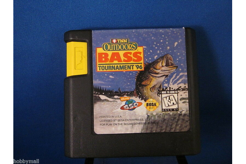 Sega Genesis TNN Outdoors Bass Tournament 96 Video Game ...