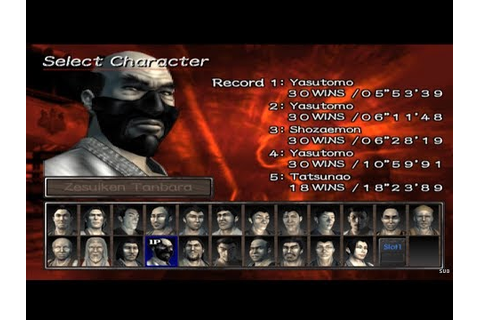 Kengo: Master of Bushido All Characters [PS2] - YouTube