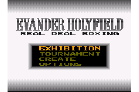 Evander Holyfield's Real Deal Boxing Screenshots ...