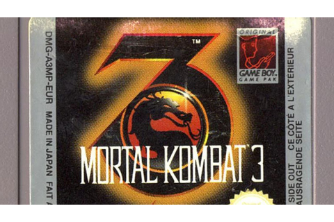 Classic Game Room - MORTAL KOMBAT 3 review for Game Boy ...