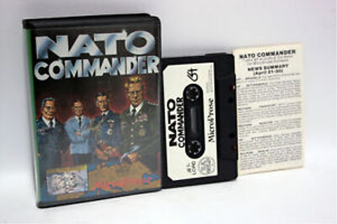 Microprose nato commander game used Good UK Version c64 ...