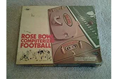 Amazon.com: Rose Bowl Computerized Football: Toys & Games