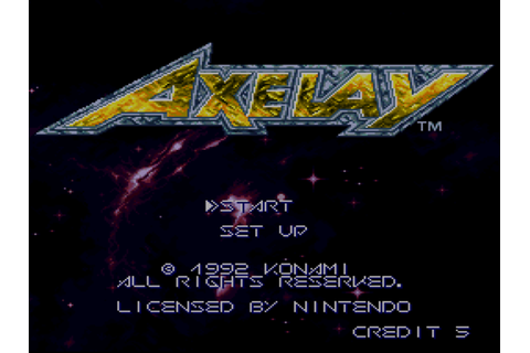 Axelay Download Game | GameFabrique
