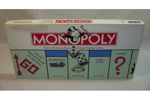 Monopoly Board Game Parker Brothers 1985 Classic Real by ...