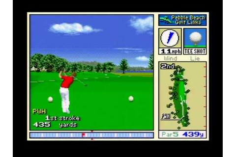 Pebble Beach Golf Links - SNES Gameplay - YouTube