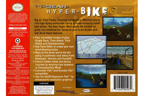 Top Gear Hyper-Bike Details - LaunchBox Games Database