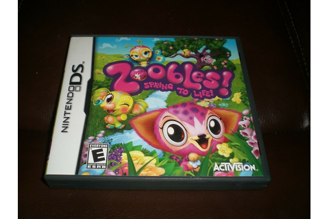 Zoobles Spring To Life! Nintendo DS Video Game Free ...