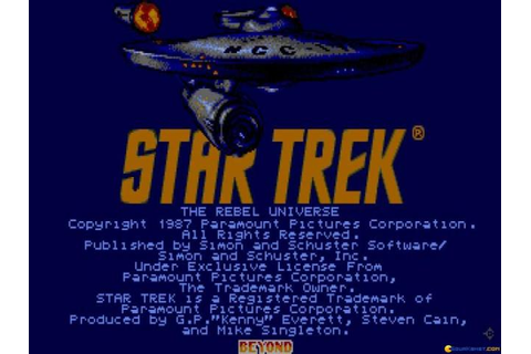 Star Trek - The Rebel Universe (1987) - PC Game