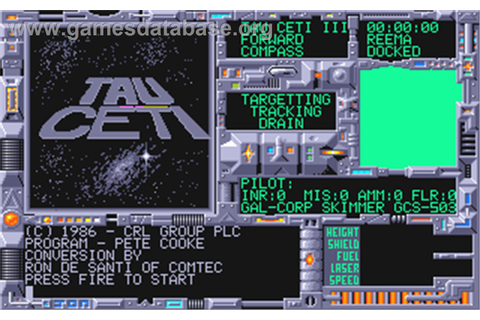 Tau Ceti - Atari ST - Games Database