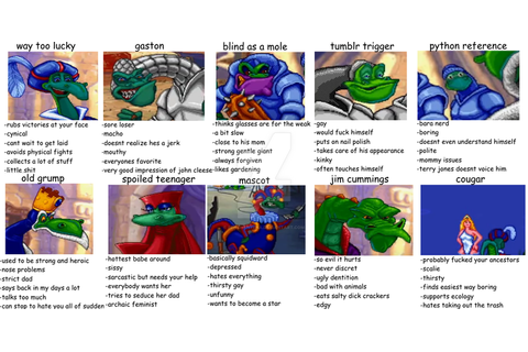 Tag yourself Blazing Dragons : the Game edition by ...