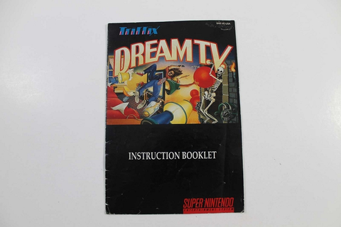Manual - Dream Tv - Snes Super Nintendo