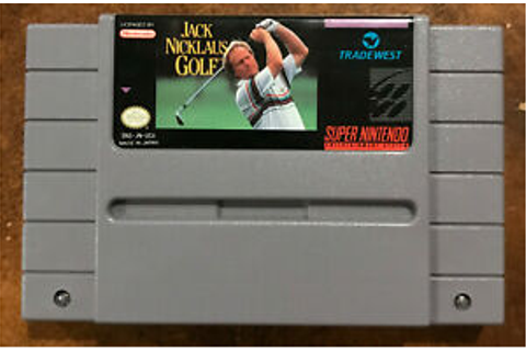 Jack Nicklaus Golf SNES Game (cleaned, polished) | eBay