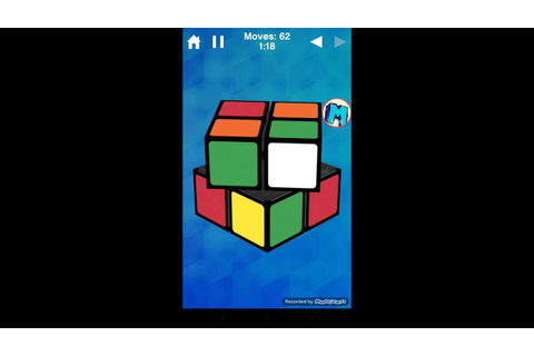 2x2 solve on Rubik's cube game for android - YouTube
