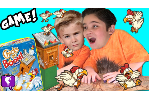 CHICKS Go BOOM Game! Fast Flying Toy Chickens with ...