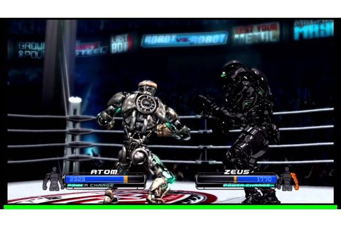 Real Steel The Video Game Atom Vs Zeus - YouTube