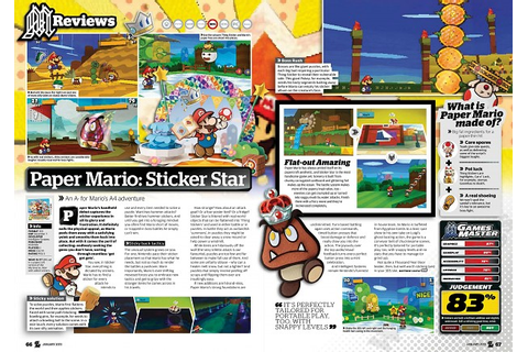 Paper Mario - Sticker Star - game review image - -IV - IX ...