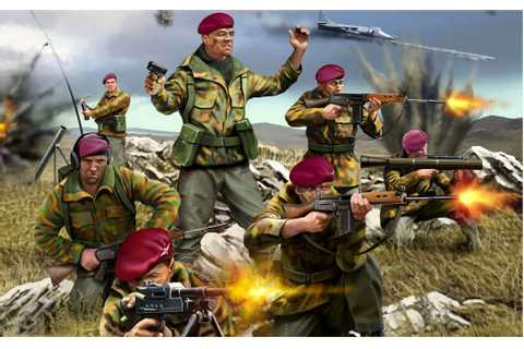 British commandos in the Falkland War | Falklands War Art ...