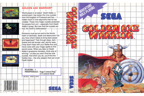 Golden Axe Warrior - Europe All sides - Scans - SMS Power!