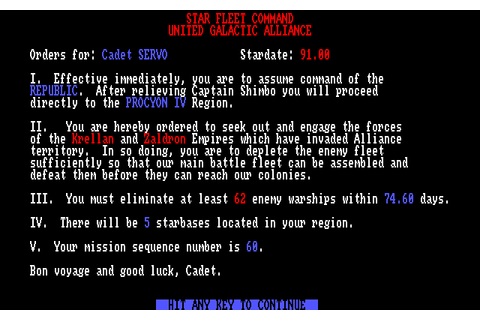 Download Star Fleet I: The War Begins! - My Abandonware